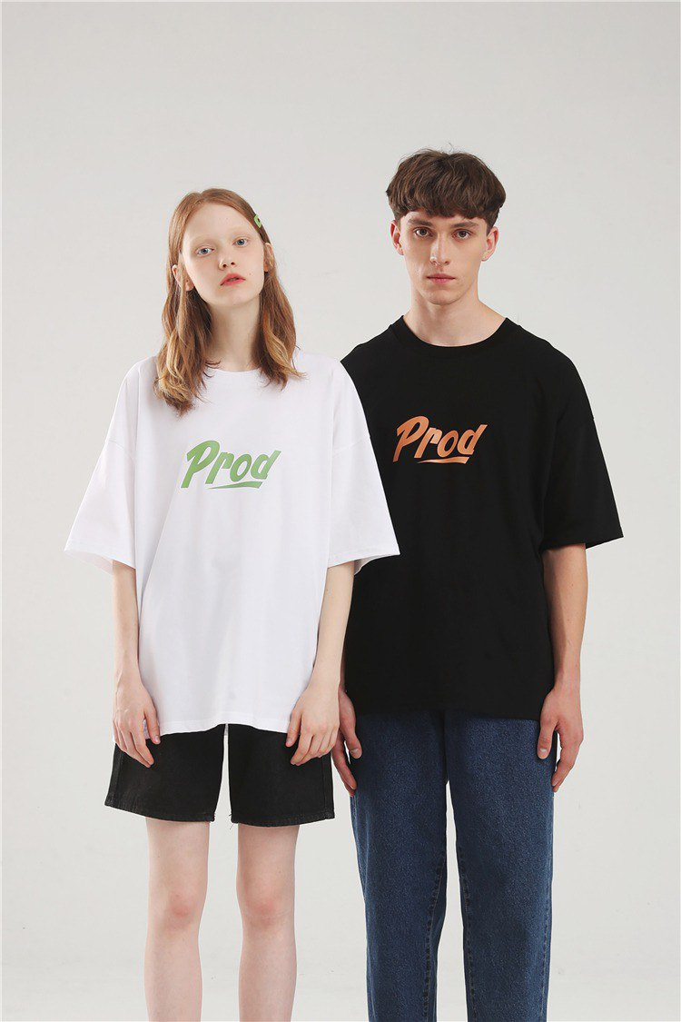 PROD cool lovers wear summer loose short-sleeved black white T-shirt female refreshing sleeves early autumn shirt