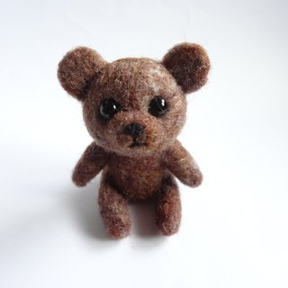 Teddy Bear- Wool felt  (key ring or Decoration)