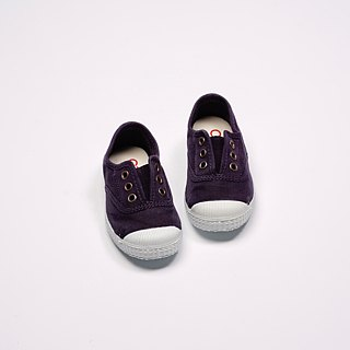 Spanish nationals canvas shoes CIENTA shoes size old dark purple fragrance shoes 70777 35