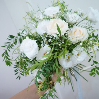 Amor Floral - artificial silk flower mixed dry bouquet bridal bouquet / wedding photography (D models)