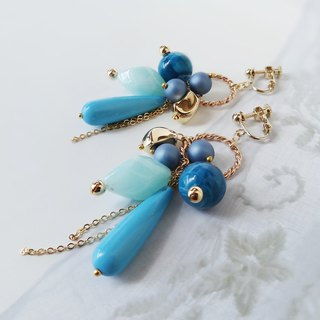 Collect turquoise blue Earrings