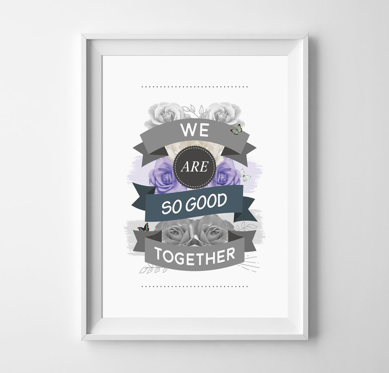 we are so good together Customizable Hanging Poster