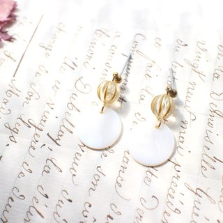 Breeze - brass handmade earrings