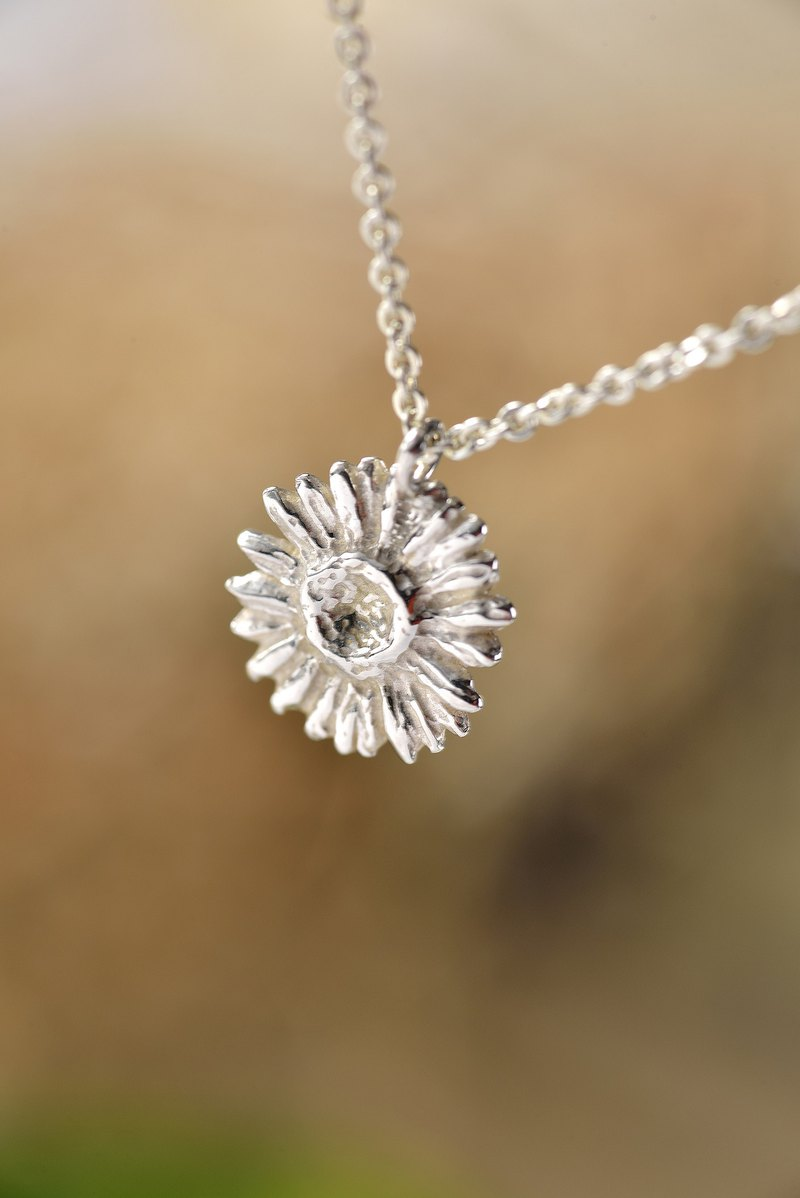 Flower Series/Sunflower/925 Sterling Silver/Necklace