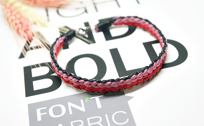 Thai silk wax line type <double mood knot> ((foot chain)) / / can choose color / /