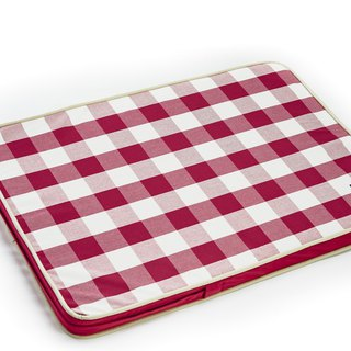 Lifeapp Sleeping Pad Replacement Cloth---M_W80 x D55 x H5 cm (Red and White) does not contain sleeping mats