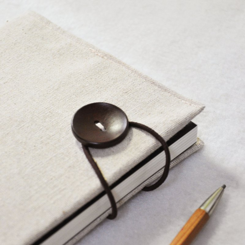 Handmade book clothes notebook [If You Are the One] rice embryo cotton (A5)