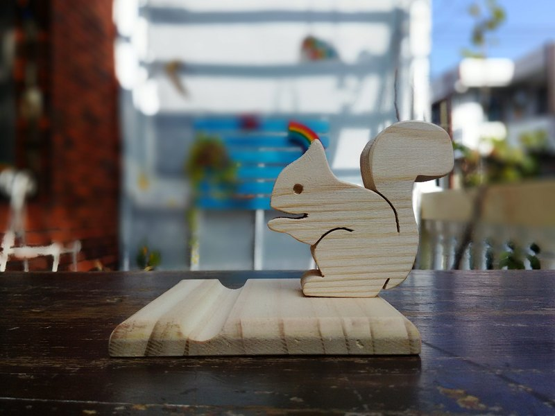 Squirrel phone / business card holder