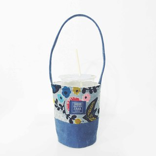 Beverage Bags - Vintage Birds and Flowers