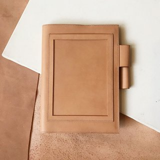 Leather book cover _ MUJI B6 size _ postcard version _ light brown