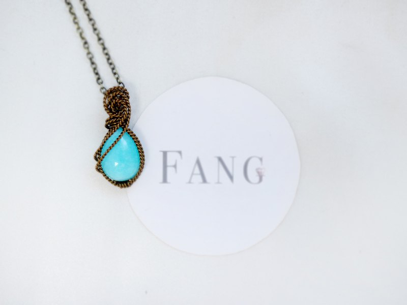 [Jasmine] Tianhe stone bare stone bag necklace