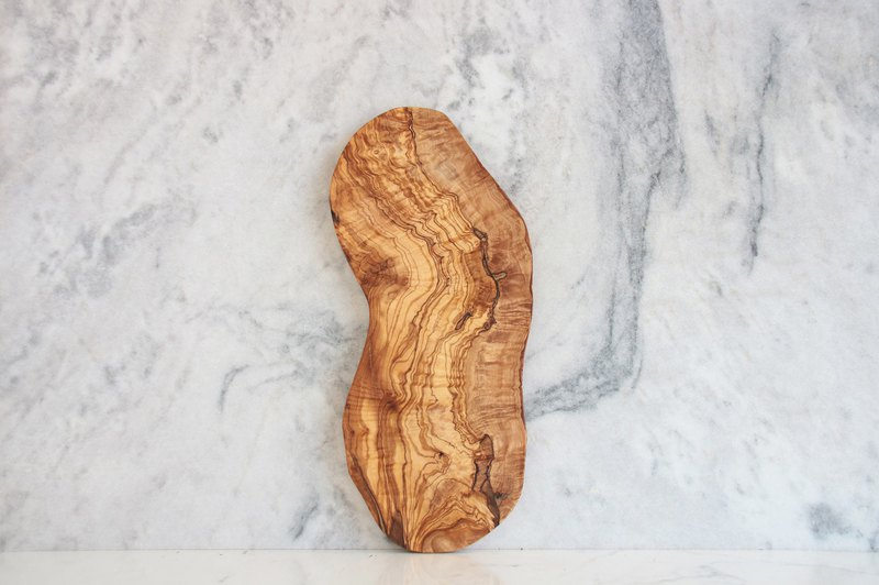 Optional pattern olive wood long tray - whole piece of olive wood cutting - L68 wood cutting board (one thing and one shot)