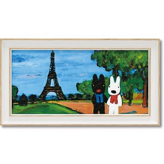 """Lisa and Casper"" horizontal frame copy painting - tower walking"