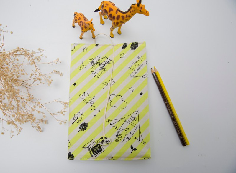 (Childhood Graffiti Yellow) Cloth Book Cover A5/Book/Adjustable Book Cloth/Book Cover/Book Cover