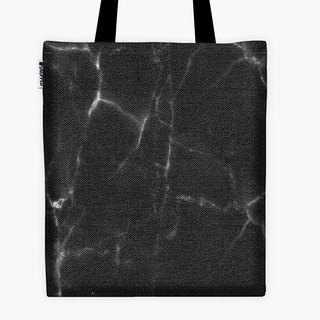 Spot - Filament Canvas Bag - BLACK MARBLE