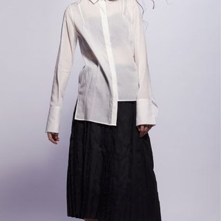 16 spring and summer sample sale 16SS white irregular cotton shirt
