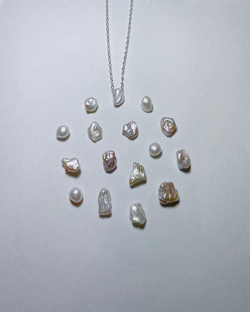 925簡約純銀巴洛克珍珠寬版項鍊