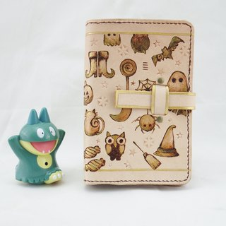 2019 black cat witch owl hand made leather notebook book