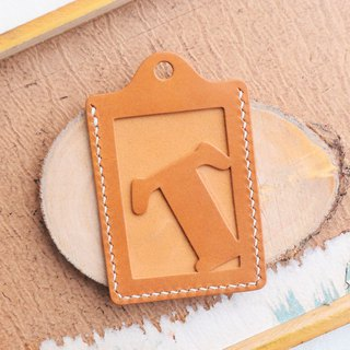Initial letter T letter certificate set well stitched leather material package card holder business card holder free engraving
