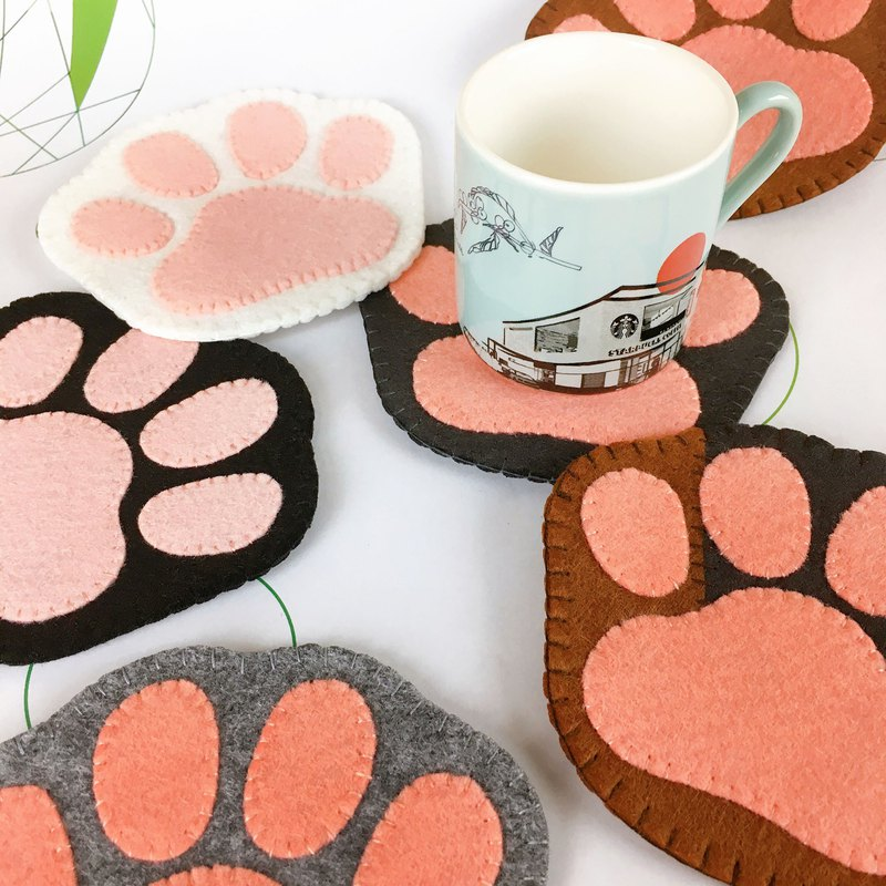 Cat palm shape coaster
