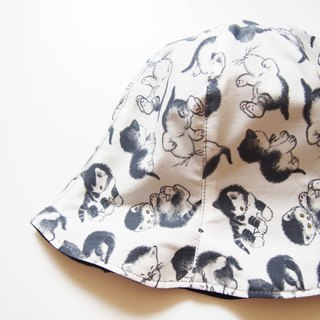 cats - Handmade Bucket Hat | Double sided