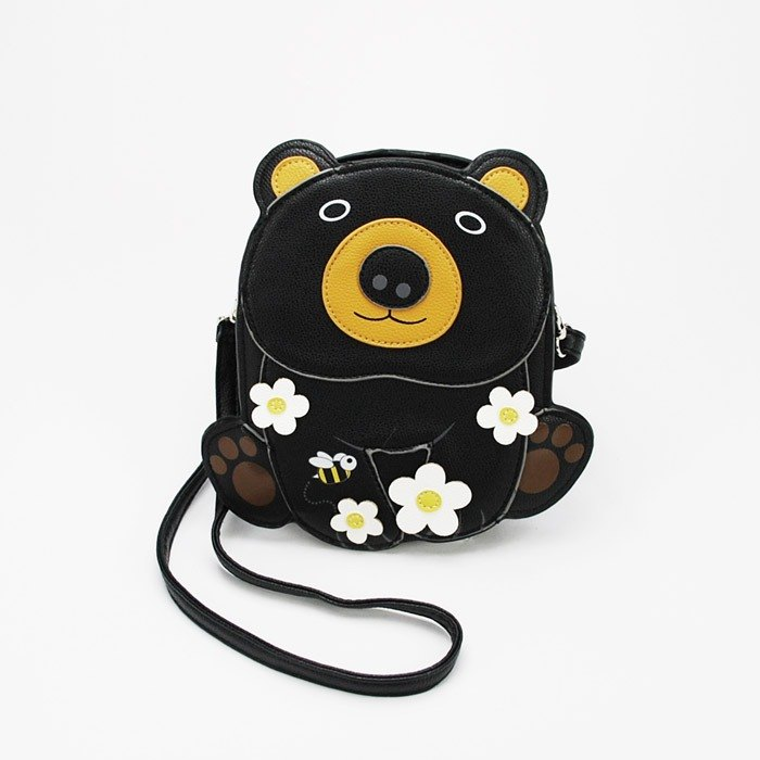 Sleepyville Critters - Cuddle Black Bear Shoulder Crossbody Bag