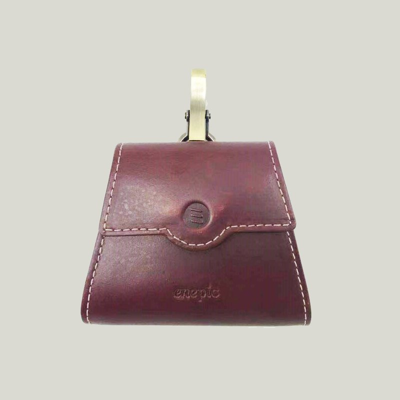 New Welfare | Leather Coin Purse | Sazerac-Dark Red [Plus Purchase Lettering]