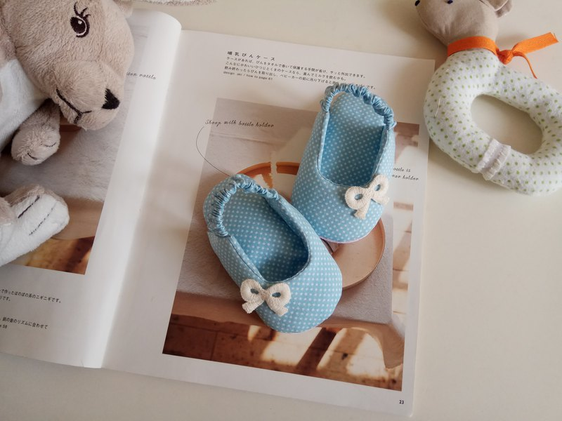 Light blue water jade baby shoes front bag sandals models moon gift full moon ceremony bow baby shoes