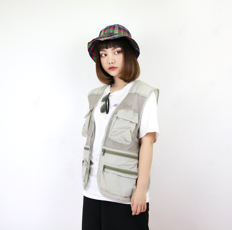 Back to Green Fisherman's vest Cool World //Evening men and women can wear vintage F-10