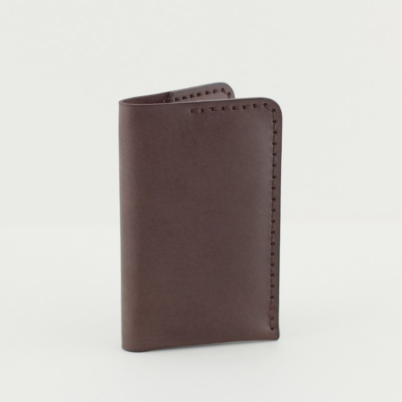 Straight Business Card Holder -- Deep Coffee