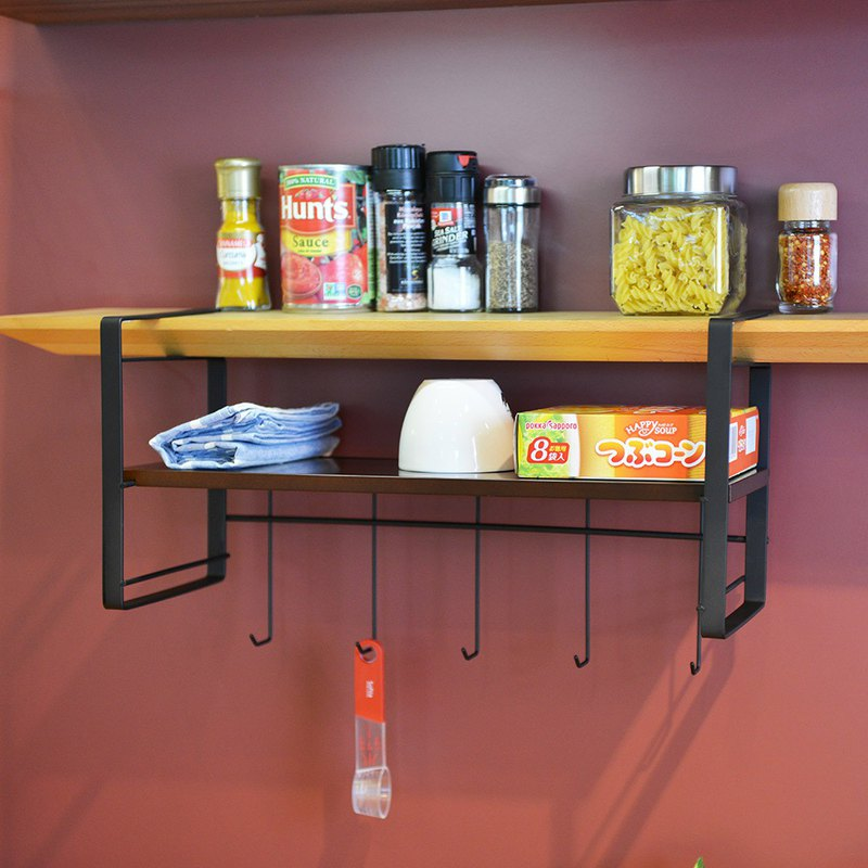 +O home nest Japan-made Layer free drilling cabinet under metal hanging shelf -45cm