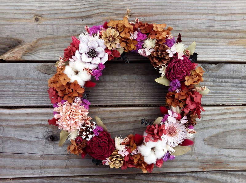 Flower good moon ||dry flower wreath wreath dry flower without flower hand made