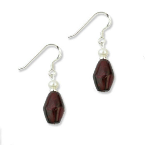 Ruby pearl earrings