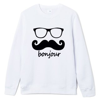 bonjour neutral university T bristle white French mustache retro glasses arts youth design original brand fashion