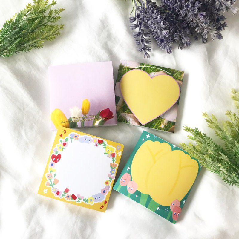 Happy Garden Memo Pad