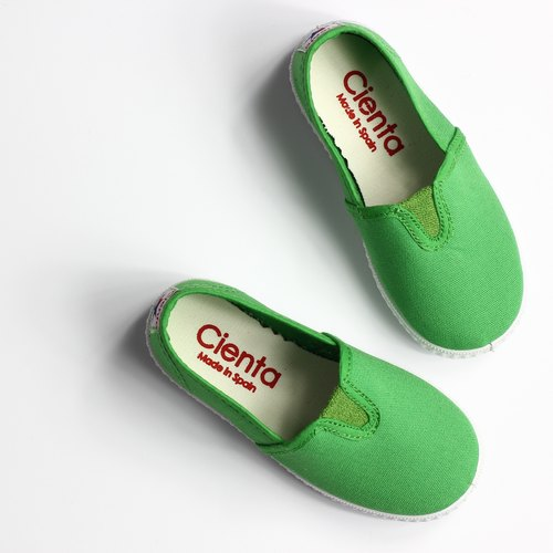 Spanish nationals CIENTA 54000 08 green canvas shoes big boy, shoes size
