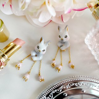 Alla White Rabbit Earrings