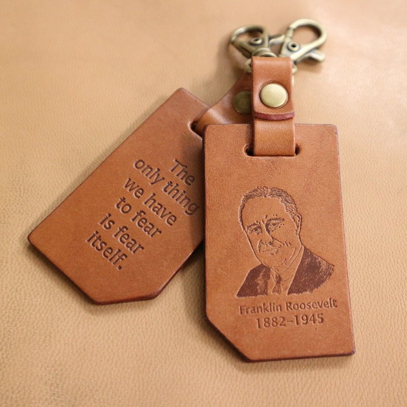 Celebrity Quotations Keyring 1:: The only thing we fear is the fear itself