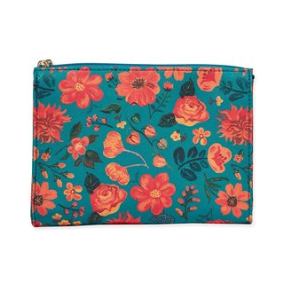 7321 Design Painted Graffiti Leather Zipper Cosmetic Bag - NL Songxi Green Garden, 73D86977