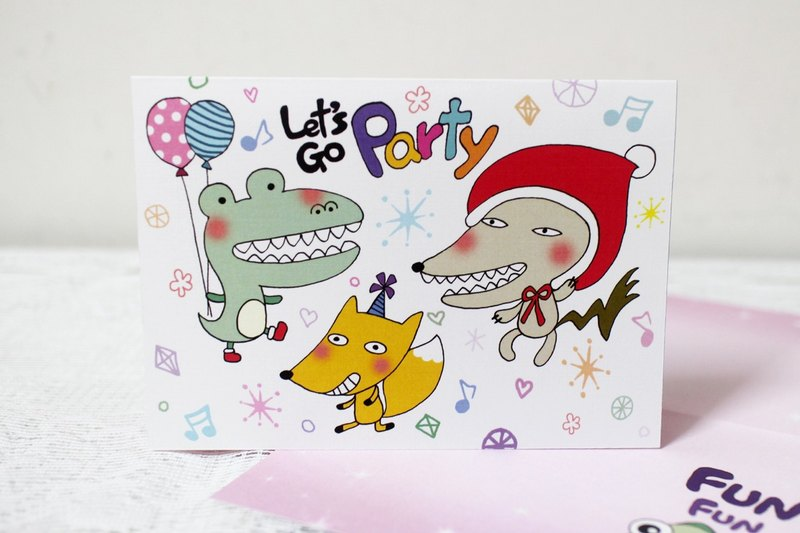 Illustration of a large card _ Christmas Card / Universal Card (not lovable zoo)