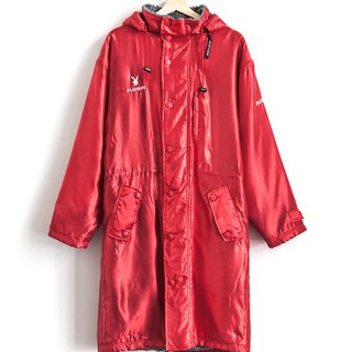 Vintage PLAY BOY red bright cotton cotton hooded jacket