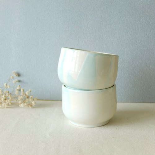 Cold grass blue glaze pottery cup / cup (on the cup) manual limit