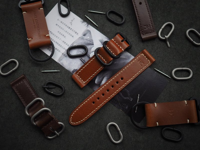 Customized Handmade Yellowish-Brown Leather Watch Strap.Watch Band.Gift
