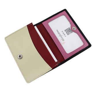 LAPELI │ Mixed color card holder Black / Beige & Red & Pink