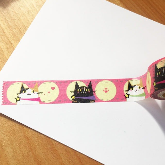 Nekosu King tape On'nya this Hen / cat lover to devote masking tape of