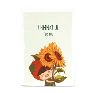 Thankful Card (Sunflower)  感恩卡  向日葵