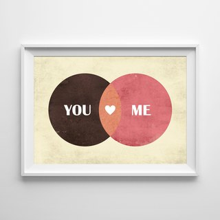 You and Me (2) Customizable poster