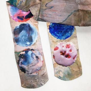 artist socks oil painting crayons Pattern Print Tights