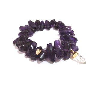 Chic Amethyst with Rock Crystal Bracelet
