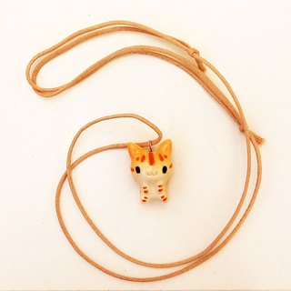 Ceramic pendant of cat S